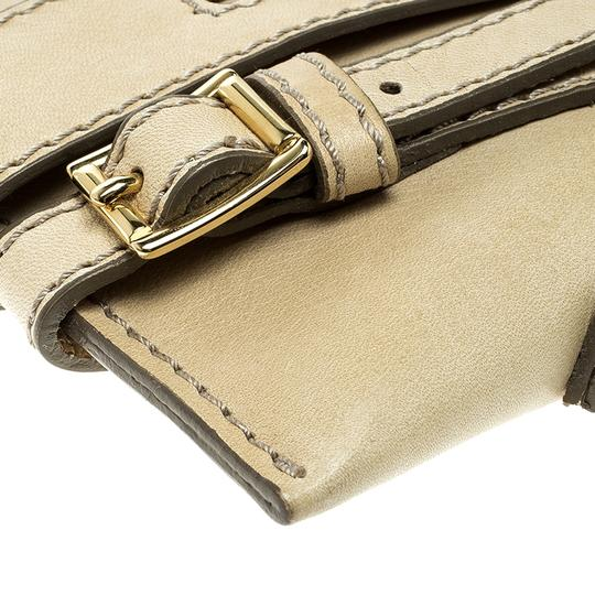 Burberry Leather Fabric Shoulder Bag Image 6