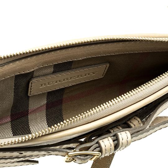 Burberry Leather Fabric Shoulder Bag Image 7