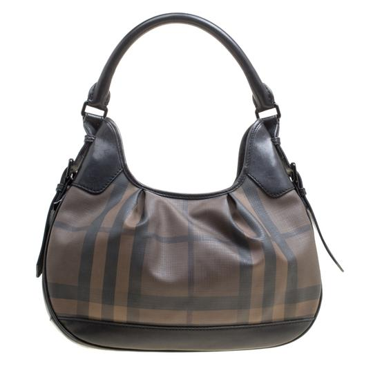 Burberry Canvas Pvc Leather Hobo Bag Image 0