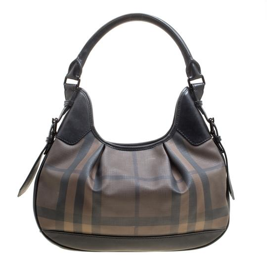 Burberry Canvas Pvc Leather Hobo Bag Image 1