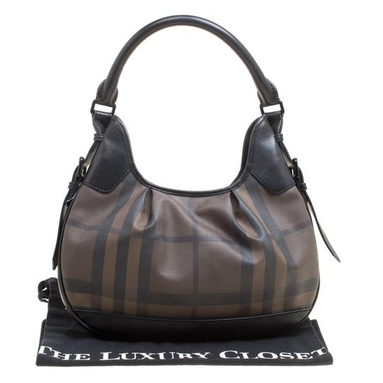 Burberry Canvas Pvc Leather Hobo Bag Image 11