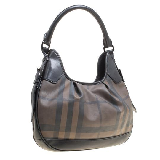 Burberry Canvas Pvc Leather Hobo Bag Image 4