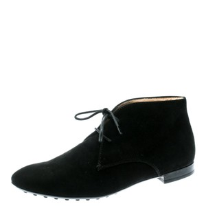 Tod's Suede Desert Leather Rubber Black Boots