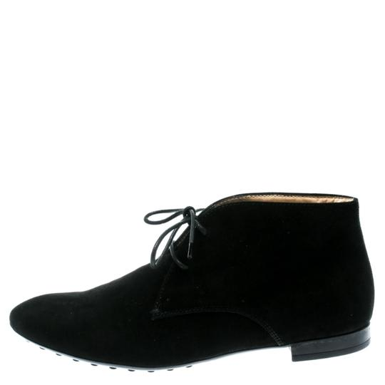 Tod's Suede Desert Leather Rubber Black Boots Image 4