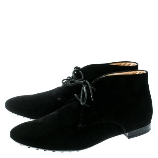 Tod's Suede Desert Leather Rubber Black Boots Image 6