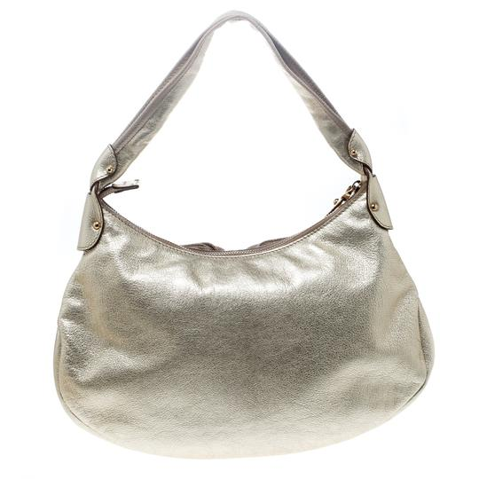 Salvatore Ferragamo Leather Fabric Hobo Bag Image 1