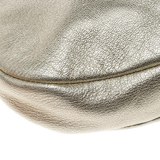 Salvatore Ferragamo Leather Fabric Hobo Bag Image 5