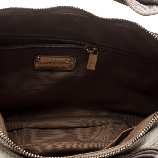Salvatore Ferragamo Leather Fabric Hobo Bag Image 8
