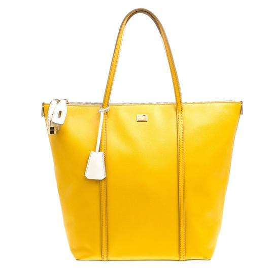 Preload https://img-static.tradesy.com/item/26427066/dolce-and-gabbana-dolce-and-gabbana-yellowoff-white-miss-escape-yellow-leather-tote-0-0-540-540.jpg