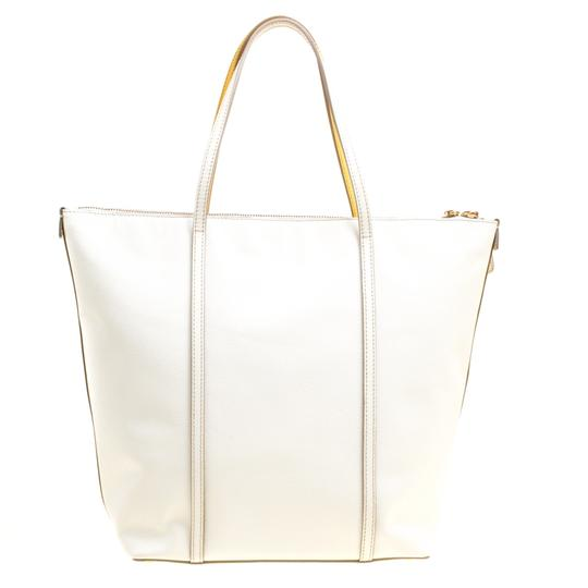 Dolce&Gabbana Leather Fabric Tote in Yellow Image 1