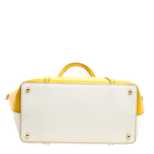 Dolce&Gabbana Leather Fabric Tote in Yellow Image 3