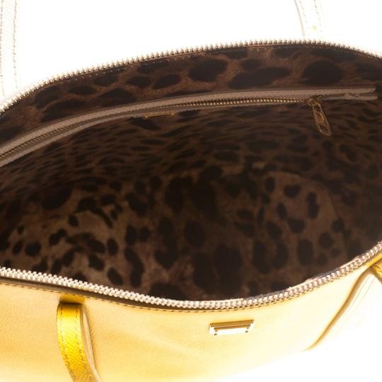 Dolce&Gabbana Leather Fabric Tote in Yellow Image 8