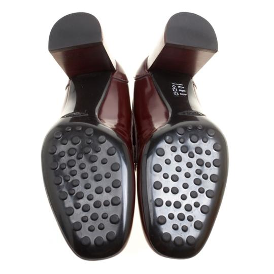 Tod's Leather Maxi Loafer Rubber Burgundy Pumps Image 3