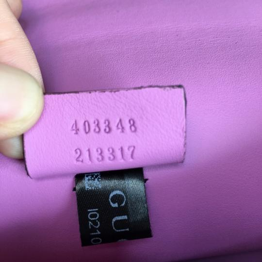 Gucci Dionysus Leather Wristlet in purple Image 8