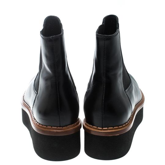 Tod's Leather Platform Ankle Black Boots Image 2