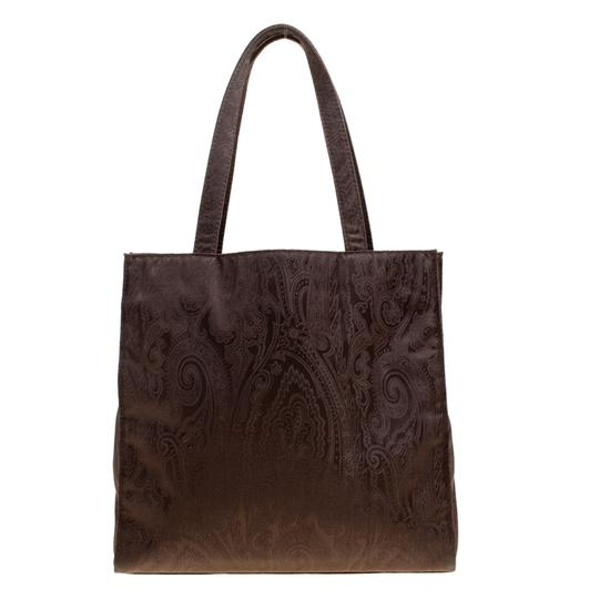 Etro Fabric Paisley Tote in Brown Image 1