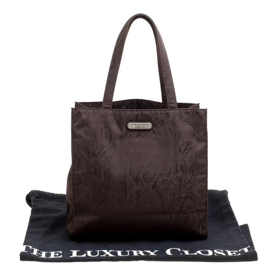 Etro Fabric Paisley Tote in Brown Image 10