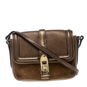 Burberry Leather Suede Shoulder Bag