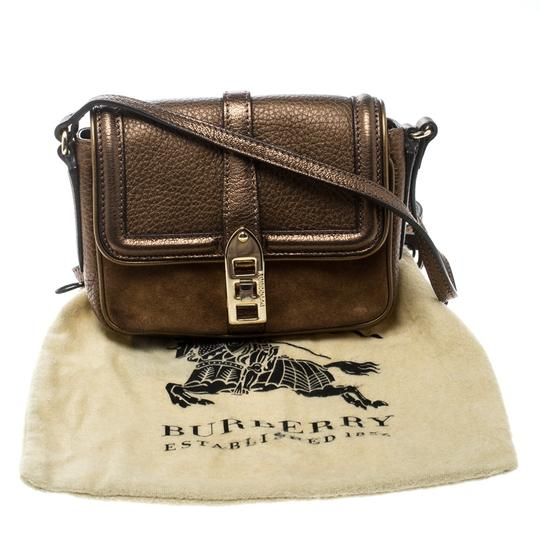 Burberry Leather Suede Shoulder Bag Image 10