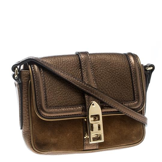 Burberry Leather Suede Shoulder Bag Image 4