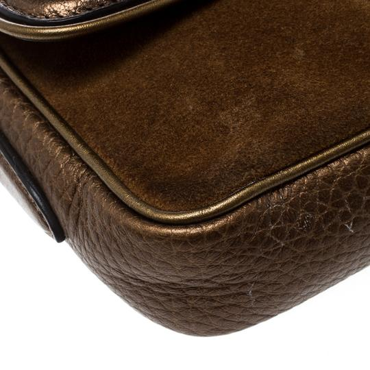 Burberry Leather Suede Shoulder Bag Image 5