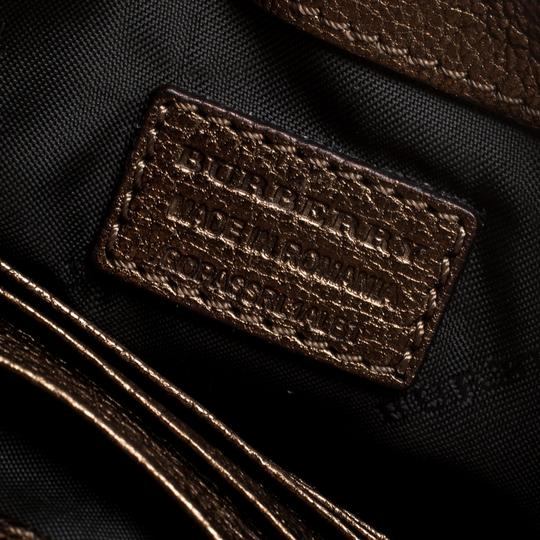 Burberry Leather Suede Shoulder Bag Image 6