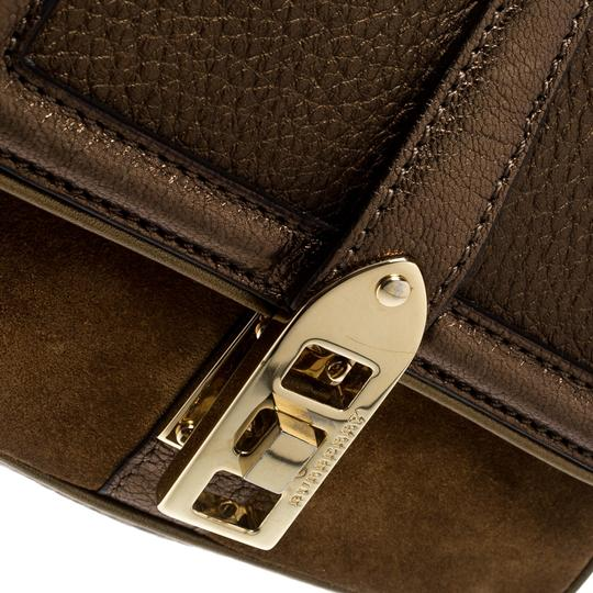 Burberry Leather Suede Shoulder Bag Image 8