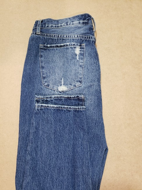 Articles of Society Patch Patchwork Cropped Destroyed Boyfriend Cut Jeans-Distressed Image 10