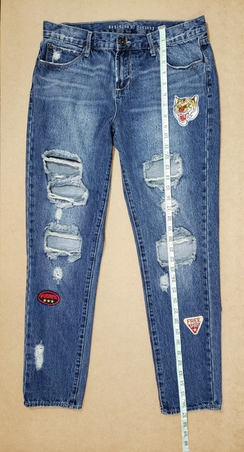 Articles of Society Patch Patchwork Cropped Destroyed Boyfriend Cut Jeans-Distressed Image 3