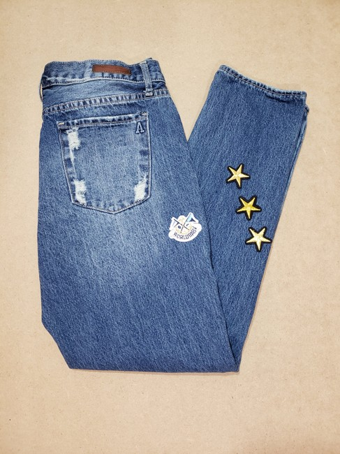 Articles of Society Patch Patchwork Cropped Destroyed Boyfriend Cut Jeans-Distressed Image 8