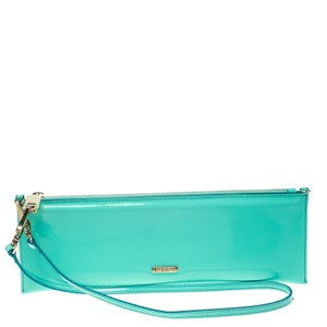 Burberry Patent Leather Nylon Green Clutch