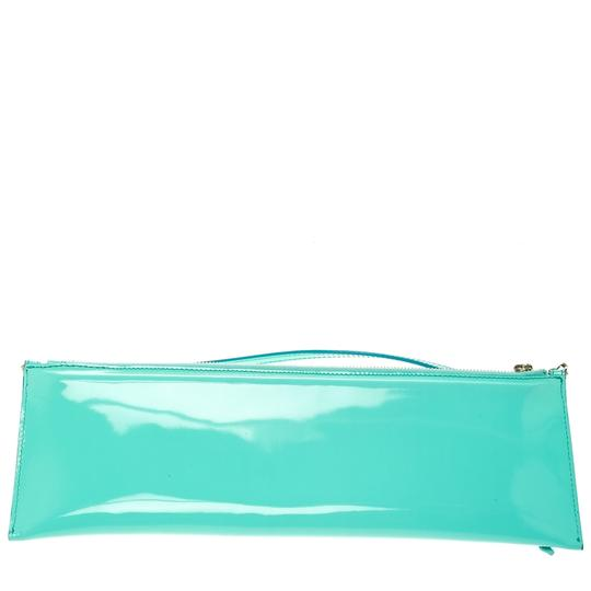 Burberry Patent Leather Nylon Green Clutch Image 1