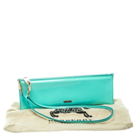 Burberry Patent Leather Nylon Green Clutch Image 11