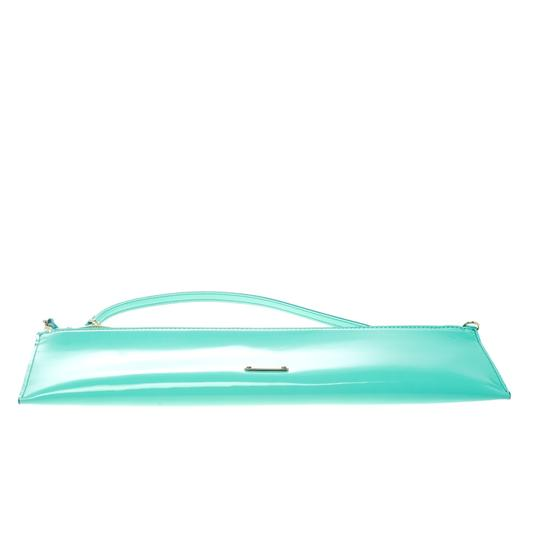 Burberry Patent Leather Nylon Green Clutch Image 3