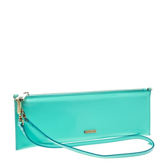 Burberry Patent Leather Nylon Green Clutch Image 4
