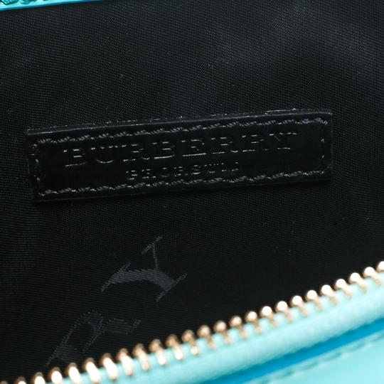 Burberry Patent Leather Nylon Green Clutch Image 8