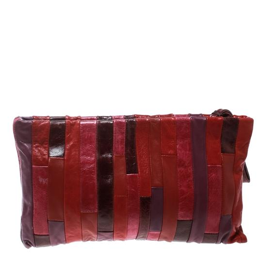 Miu Miu Leather Satin Multicolor Clutch Image 1