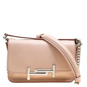 Tod's Leather Fabric Shoulder Bag