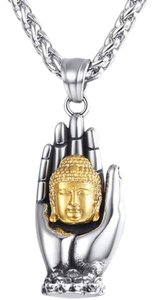 Other Two tone Buddha Head Necklace