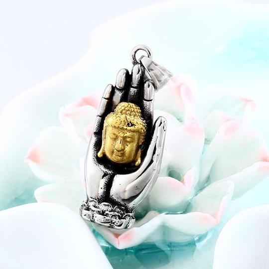 Other Two tone Buddha Head Necklace Image 1