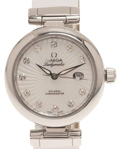 Omega Mother of Pearl Stainless Steel Ladymatic Women's Wristwatch 34MM