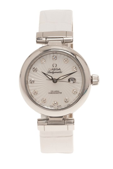 Omega Mother of Pearl Stainless Steel Ladymatic Women's Wristwatch 34MM Image 1
