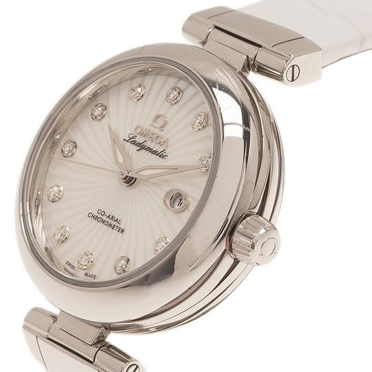 Omega Mother of Pearl Stainless Steel Ladymatic Women's Wristwatch 34MM Image 2