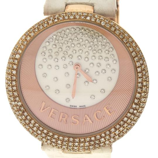 Versace Cream Rose Gold Plated Steel Perpetuelle 87Q Women's Wristwatch 40 mm Image 1