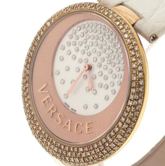Versace Cream Rose Gold Plated Steel Perpetuelle 87Q Women's Wristwatch 40 mm Image 2