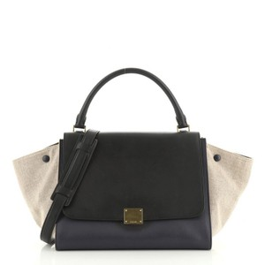 Céline Tricolor Leather Tote in brown and neutral
