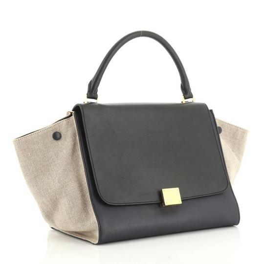 Céline Tricolor Leather Tote in brown and neutral Image 1