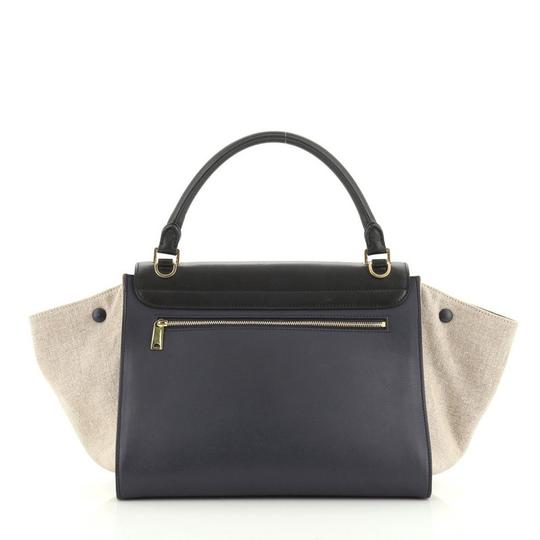 Céline Tricolor Leather Tote in brown and neutral Image 2