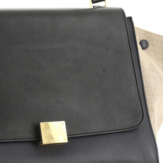 Céline Tricolor Leather Tote in brown and neutral Image 6