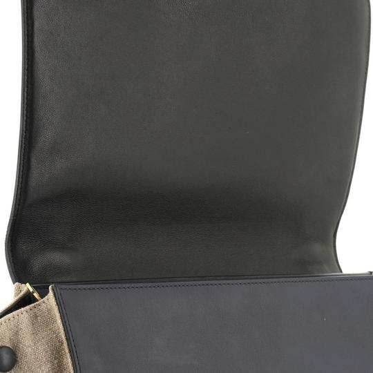 Céline Tricolor Leather Tote in brown and neutral Image 7